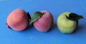 lot of 3 artificial Fruit red onion 2 Apples Kitchen Decor