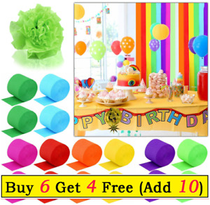 1x Solid Color Gift Wrapping Crepe Paper for Kids Craft DIY Wedding Party Decor