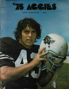 1975 UTAH STATE AGGIE FOOTBALL media guide, Louis Giammona, Excellent
