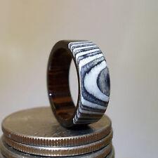 Wood Ring Handcrafted, Bog Oak 3500 years Old, Birdseye Marple,Wenge. Size 1-18