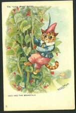 Postcard - Louis Wain (Cats) - Jack & the Beanstalk - 1905