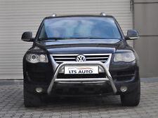VW TOUAREG CHROME NUDGE A-BAR, STAINLESS STEEL BULL BAR 2003-2009 W K