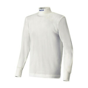 New Sparco SOFT-TOUCH longsleeve t-shirt white (FIA homologation) - S
