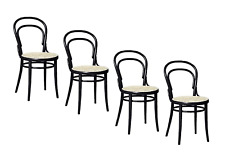 Authentic Ton  Era Chair with Cane Seat, Set Of 4 | Design Within Reach