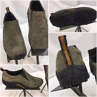 Merrell Jungle Moccasins Shoes Sz 8.5 Women Tan Suede Slip On EUC YGI D7-90