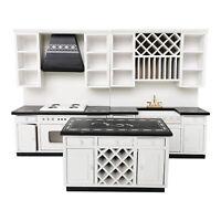 1/12 Dollhouse Wooden Modern Kitchen Cooking Cabinet Furniture Miniature