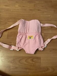 build a bear backpack carrier used good condition pink