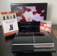 Sony PlayStation 3 80GB PS3 Black Fat Console CECHK01 tested works bundle game