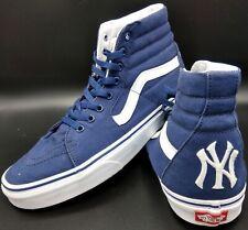 Vans Off The Wall Mens 11.5 Shoes New York Yankees Skate Sk8 Hi High Top NY EUC