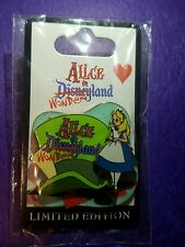 Disneys Alice in Wonderland Logo Mad Hatter Hat DLR Pin