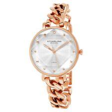 Stuhrling Original 3937 4 Quartz Crystal Accented Chain Bracelet Womens Watch