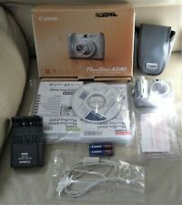 Canon PowerShot A540 4X Zoom, 6.0MP Digital Camera with charger and Bag- Silver