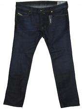 BNWT Diesel Safado 0844 C REG Slim Straight W38 L32 Homme Bleu Foncé Denim Jeans