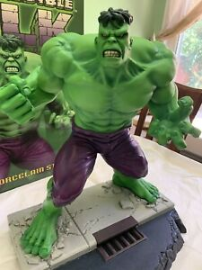 Marvel The Incredible Hulk Statue Hard Hero Cold Cast Porcelain Figure Bust