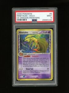 Pokemon PSA 9 MINT Ninetales 2006 EX Dragon Frontiers Holo Rare Card 8/101