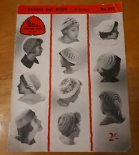 Vintage Knitting Book - Patons Hat Book - No. 547  - 18 designs