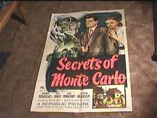 SECRETS OF MONTE CARLO 1951 ORIG MOVIE POSTER WARREN DOUGLAS