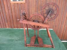 Rare Antique 2 Double Wheel Spinning Wheel Canadian Model Jl Heureux L'Acadie