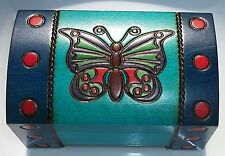 Butterfly Chest Box Hand Crafted Wood Small Jewelry Box Trinket Box Gift Box