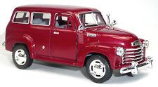 1950 Chevrolet Suburban Carryall Sammlermodell 12,2 cm rot metallic KINSMART