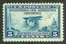 sc#650 airplane globe 1928 us/usa stamp og mint nh mnh