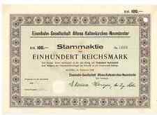 AKN Eisenbahn-Gesellschaft Altona-Kaltenkirchen-Neumünster 1928 Altona Hamburg