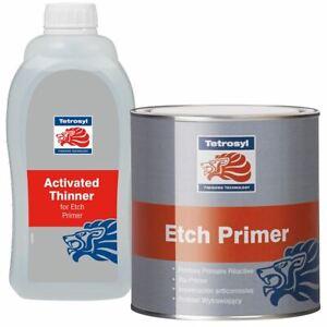 Tetrosyl Etch Primer 1L & 1L Activator - 2L Kit Acid & Thinner Reducer