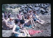 1963 Kodachrome  Photo slide Girls in bathing suits Cheetos and soda bottles #1