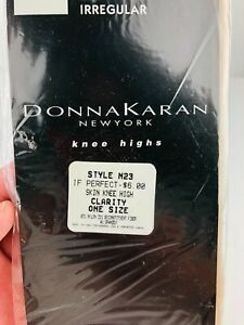 Donna Karan NY Knee High Hosiery Nude One Size Style N23 - Sealed   *Up