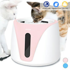 Automatic Pet Water Fountain Electric Dog Cat Drink Bowl Dispenser Feeder Filter