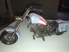 New listing Large Handmade Vintage Harley Davidson Chopper Motorcycle Diecast Toy Metal Gift