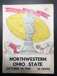 Northwestern Ohio State Football Program October 29, 1949