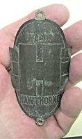 "Vintage Wards ""H"" Hawthorne Bicycle Emblem Head Badge (LOT 112D)"