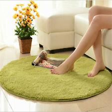 Non-Slip Home Decor Soft Bath Bedroom Floor Shower Yoga Plush Round Mat Rug 60cm