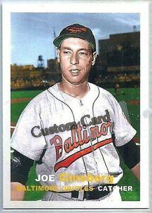 JOE GINSBERG BALTIMORE ORIOLES 1957 STYLE CUSTOM MADE BASEBALL CARD BLANK BACK