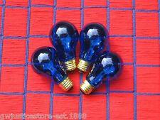 BOX of 4 } COBALT BLUE transparent 25w tint A19 PARTY LIGHT BULB 25 watt 25A19