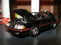1988 FORD MUSTANG GT 5.0 FOX BODY LIMITED EDITION COUPE M2 1/64 CUSTOM BLACK