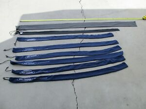 VINTAGE FISHING ROD COVERS ** SET OF 8 COVERS **********