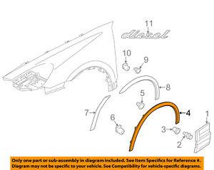 PORSCHE OEM Front Fender-Wheel Well Flare Arch Molding Left 958559727119B9