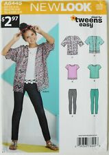 New Look Kids 6445 Tweens Girls Jacket Top Leggings Sewing Pattern Sz 8-16