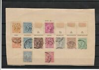 netherlands 1891 on  part album page stamps ref 18520