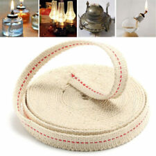 5PCS 1M White Flat Cotton Oil Lamp Wick Roll For Oil Lamps and Lanterns 10mm