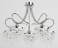 Crystals Luxury Chandelier 5 arms Modern Palace Light Hallway Dining Diana NEW
