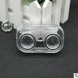 Mini Transparent Portable Contact Lens Case With Rubber Band Travel Kit Holder