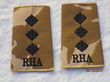 Distintivo di grado: Capitano ,RHA, Royal Cavallo Artiglieria,Desert, Coppia