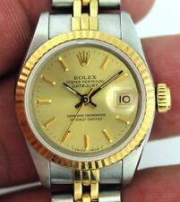 Rolex Oyster Perpetual Datejust 69173 SS & 18k Gold Ladies Watch 26mm