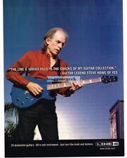 2005 LINE 6 Variax Electric Guitar STEVE HOWE of YES Vtg Print Ad