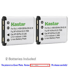 Kastar Replacement Battery for Fuji NP-45 NP-45A BC-45B Fujifilm FinePix JV200
