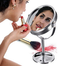 A&C Double Sided Round Table Magnifying Mirror Cosmetic Makeup Shaving SwiveRWKG