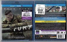 FURY -  Film avec Brad PITT - 2013 - 134 min - Blu-ray - NEUF
